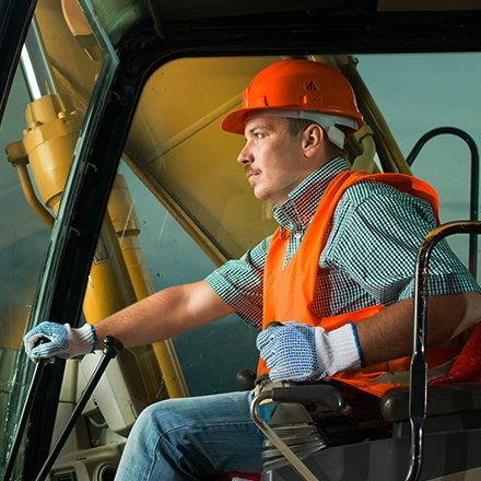 Conducteur d'engins de chantier